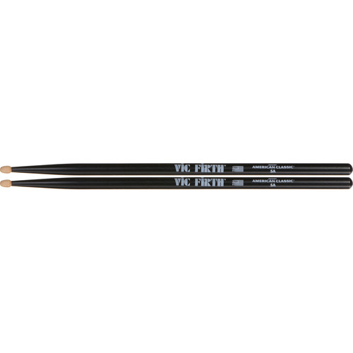 VIC FIRTH American Classic Hickory Drumsticks 5AB (Black)