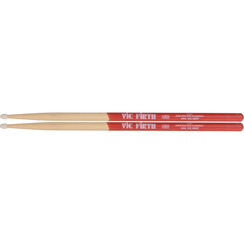 VIC FIRTH American Classic Vic Grip Hickory Drumsticks 5ANVG