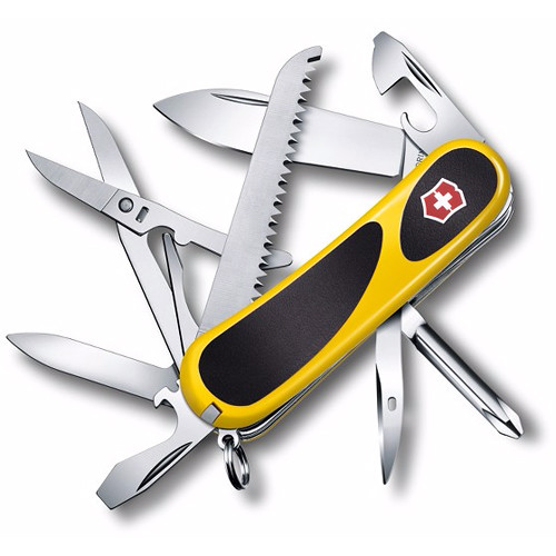 Victorinox Evolution Grip 18 Folding Knife (Yellow/Black) (Clamshell Packaging)