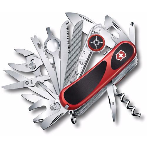 Victorinox Evolution Grip S54 Folding Knife (Red/Black) (Clamshell Packaging)