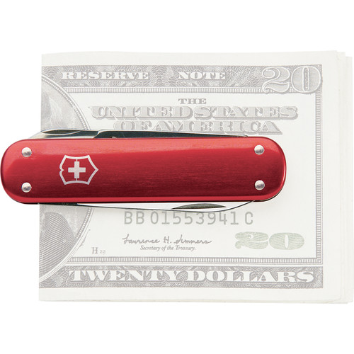 Victorinox Money Clip Pocket Knife (Red Alox)