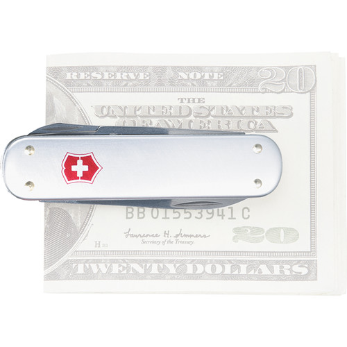 Victorinox Money Clip Pocket Knife (Silver Alox)