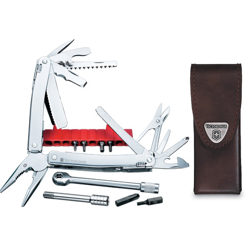 Victorinox SwissTool Spirit Plus Ratchet Multi-Tool with Leather Pouch