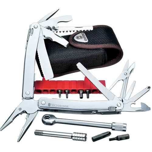 Victorinox SwissTool Spirit Plus Ratchet Multi-Tool with Nylon Pouch