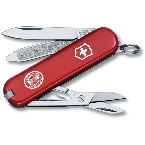 Victorinox Classic SD Pocket Knife (Red, Eagle Scouts of America Edition, Clamshell Packaging)