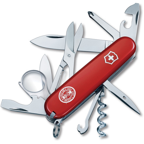 Victorinox Explorer Pocket Knife (Red, Eagle Scouts of America Edition, Clamshell Packaging)