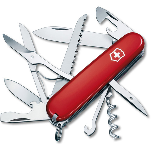 Victorinox Huntsman Pocket Knife (Red, Clamshell Packaging)