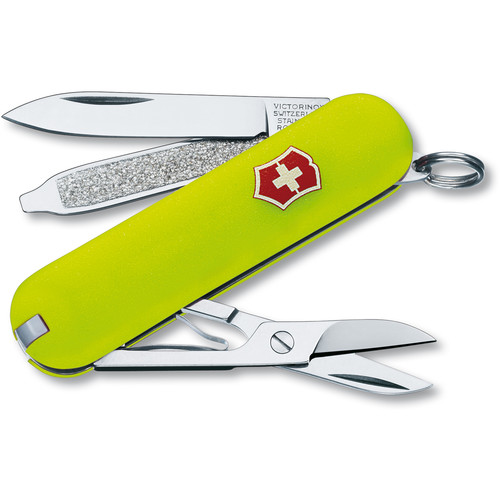 Victorinox Classic SD Pocket Knife (Stayglow Yellow, Clamshell Packaging)