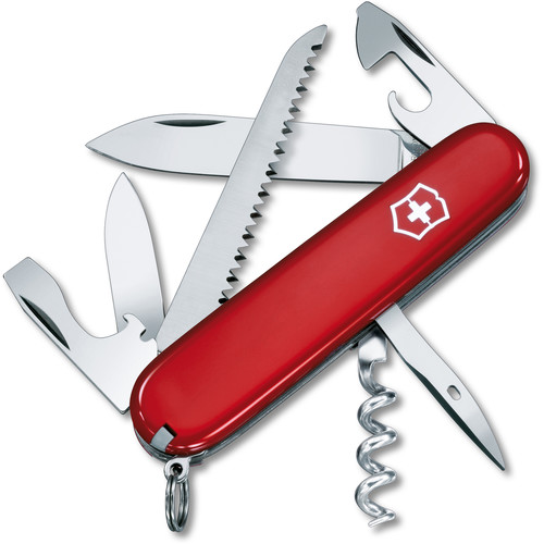 Victorinox Camper Pocket Knife (Red, Clamshell Packaging)