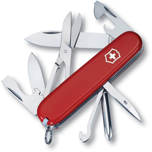 Victorinox Super Tinker Pocket Knife (Red, Clamshell Packaging)