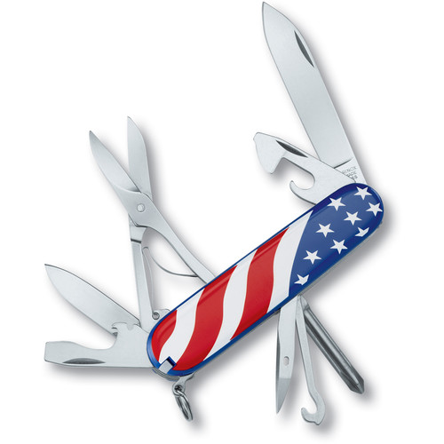 Victorinox Super Tinker Pocket Knife (USA Flag, Clamshell Packaging)
