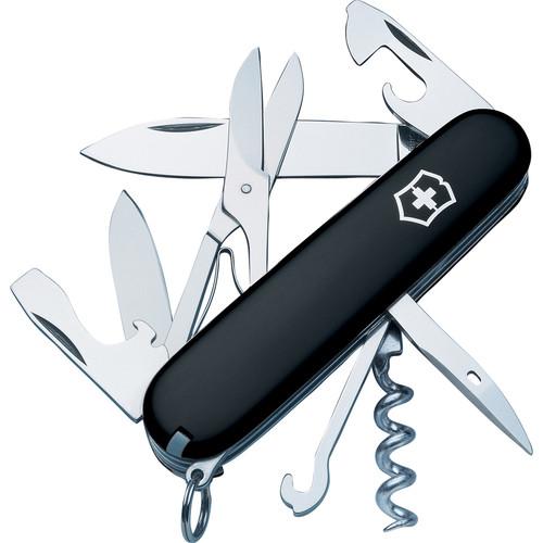 Victorinox Climber Pocket Knife (Black, Clamshell Packaging)