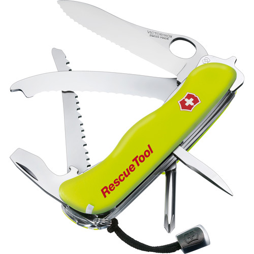 Victorinox RescueTool Pocket Knife (Fluorescent Yellow, Clamshell Packaging)