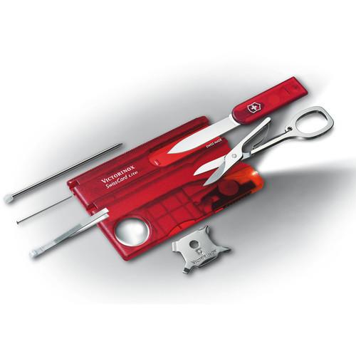 Victorinox SwissCard Lite Multi-Tool (Ruby, Clamshell Packaging)