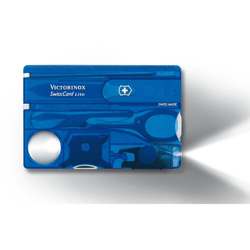 Victorinox SwissCard Lite Multi-Tool (Sapphire, Clamshell Packaging)