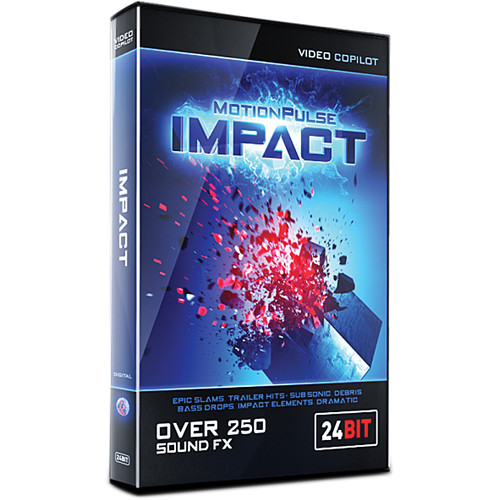 Video Copilot MotionPulse Impact Pack - Impacts, Hits and Crashes Sound Effects (Download)