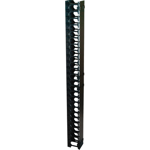 Video Mount Products Vertical Cable Management (27 Rack Spaces, Black)