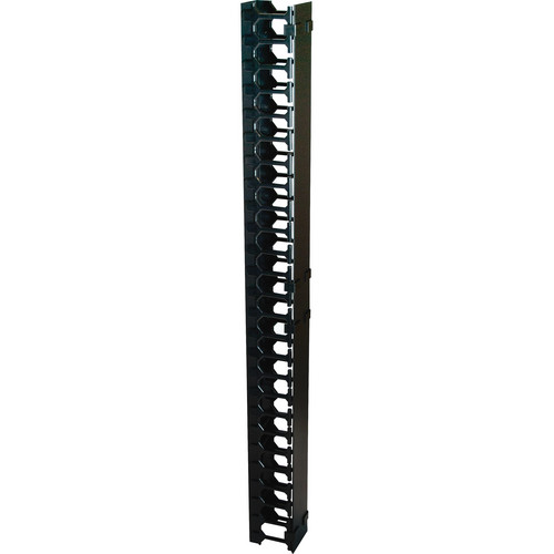 Video Mount Products Vertical Cable Management (42 Rack Spaces, Black)