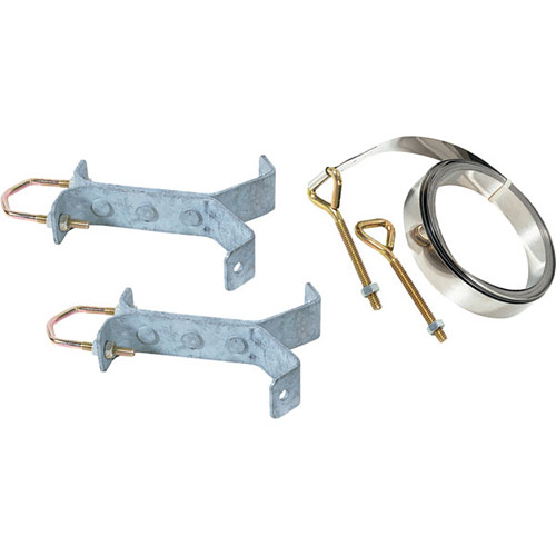 """Video Mount Products Chimney Mount for 1.25-1.66"""" Antenna / DBS Pipe (Y-Type, Pair)"""