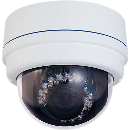 VideoComm Technologies IPC-2MPSR50 2MP H.264 All-Weather IR Network Dome Camera with 2.8 to 12mm Varifocal Zoom Lens