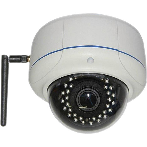 VideoComm Technologies IPC-2MPSR50W 2MP All-Weather Day/Night IR PoE Ready WiFi Dome IP Camera with 2.8-12mm Lens