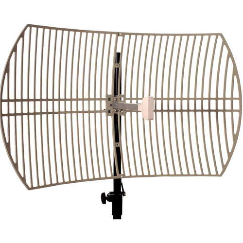 VideoComm Technologies 2.4GHz 24dB High Gain All-Weather Parabolic Grid Antenna