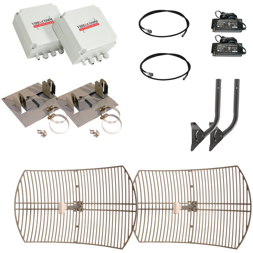 VideoComm Technologies TCO-2409QX30 2.4 GHz Digital FHSS All-Weather 9-Channel D1 Transmitter & Receiver Kit (30 mi)