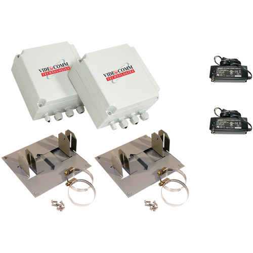 VideoComm Technologies TCO-2409XR6 2.4 GHz Digital FHSS All-Weather 9-Channel D1 Transmitter & Receiver Kit (2500')
