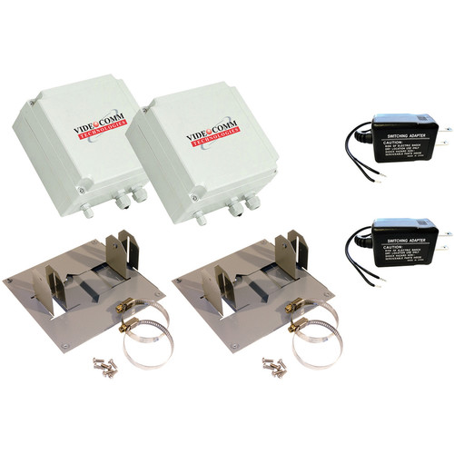 VideoComm Technologies TXO-2409XT 2.4 GHz Digital FHSS All-Weather Wireless 9-Channel Digital Video Transmitter