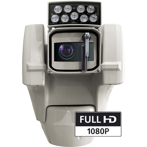 Videotec ULISSE COMPACT HD 1080p Outdoor Network PTZ Camera with Night Vision and 10° IR LED Illuminator (24 VAC)