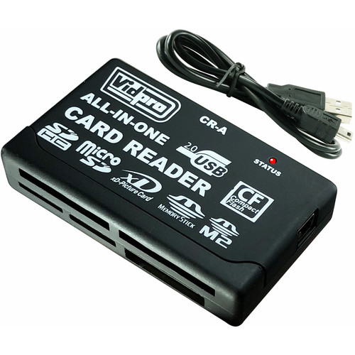 Vidpro 6-Slot All-In-One USB 2.0 Card Reader