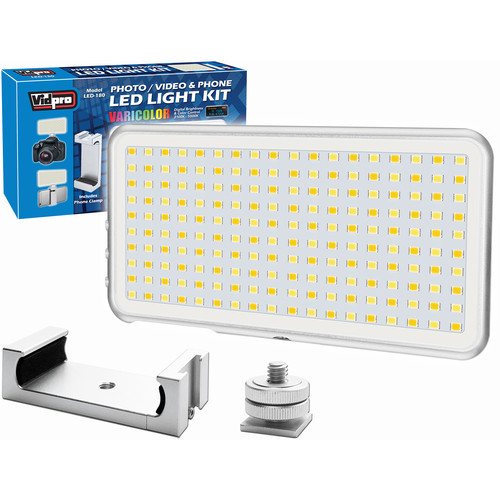 Vidpro LED-180 Micro Series Photo & Video LED Light for Cameras and Smartphones