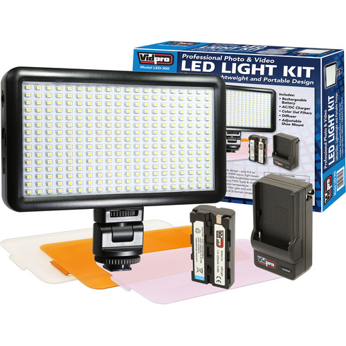 Vidpro LED-300 On-Camera Daylight-Balanced LED Light