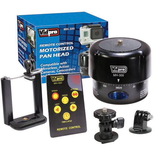 Vidpro MH-300 Motorized Pan Head with Remote Control