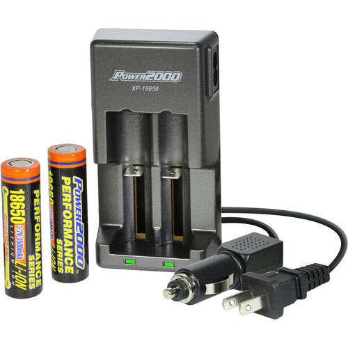 Power2000 XP-18650 Battery and Charger Kit