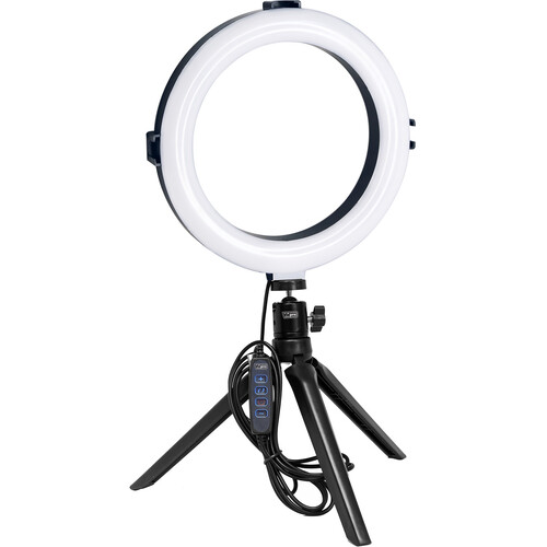 """Vidpro 8"""" Bi-Color LED Ring Light Kit with Table Top Tripod and Ball Head"""