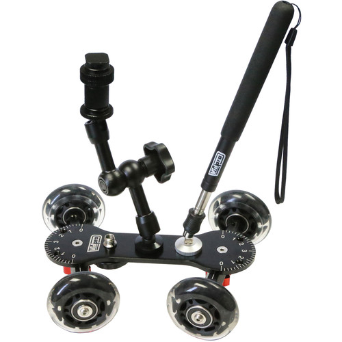 Vidpro Professional Skater Dolly Kit with Magic Arm & Extendable Handle
