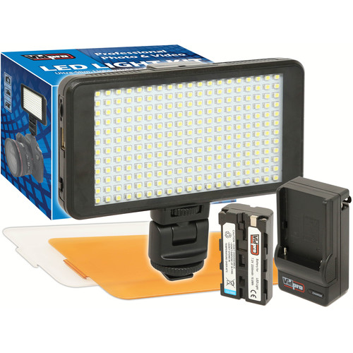 Vidpro Ultra-Slim LED-230 On-Camera Video Lighting Kit