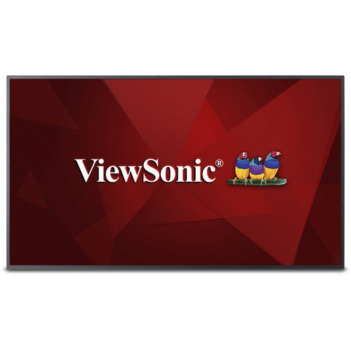 "ViewSonic 50"" 4K Ultra HD Commercial Display with Multi-Core Media Player"