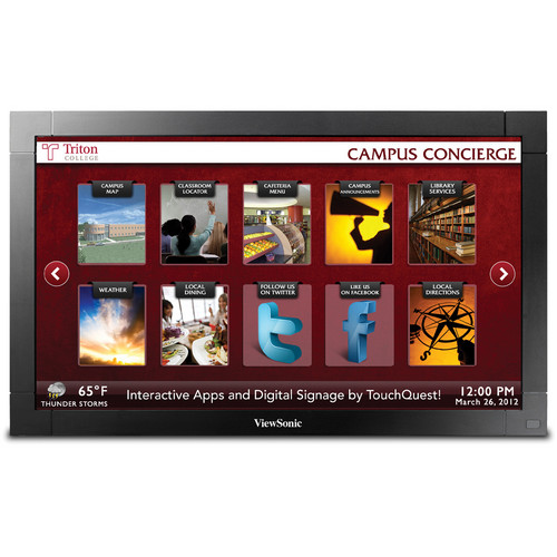 """ViewSonic CDP4235-T 42"""" Full HD Touch Commercial Display with Intel OPS"""