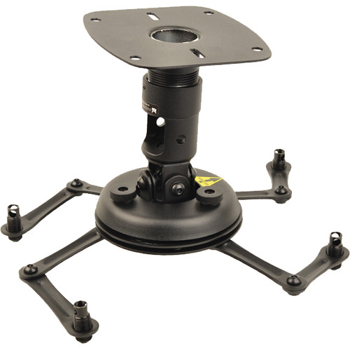 """ViewSonic Universal Projector Ceiling Mount with 1.5"""" NPT Coupler & Mounting Plate (Load Up to 60 lb)"""