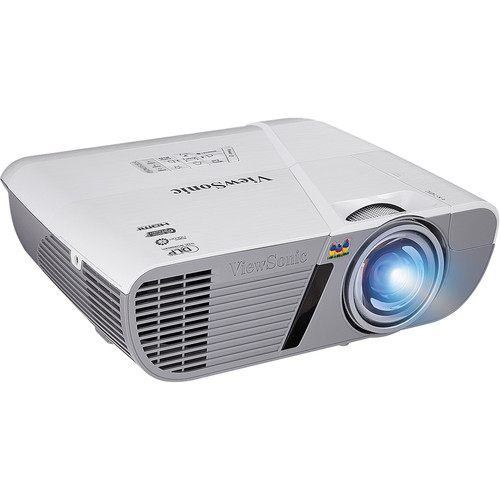 ViewSonic PJD6352LS 3200L LightStream XGA Networkable Short-Throw Projector (White)