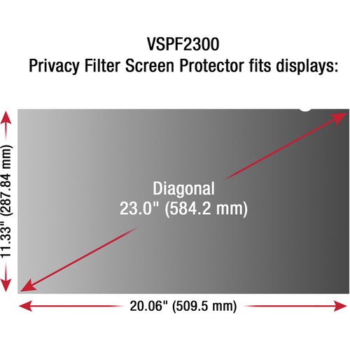 "ViewSonic VSPF2300 Privacy Filter for 23"" Display"