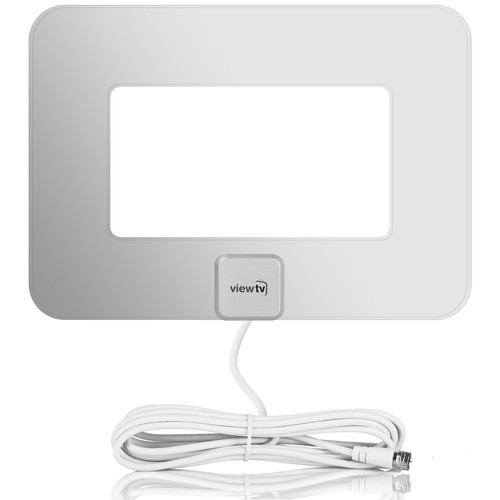 ViewTV VT-9047 Flat Amplified HDTV Antenna (Silver)