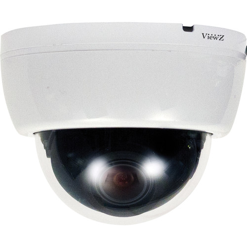 ViewZ HDC Series VZ-HDC-9 2.2MP Full HD Indoor Day/Night Mini Dome Camera with 2.8 to 11mm Varifocal Lens (White)