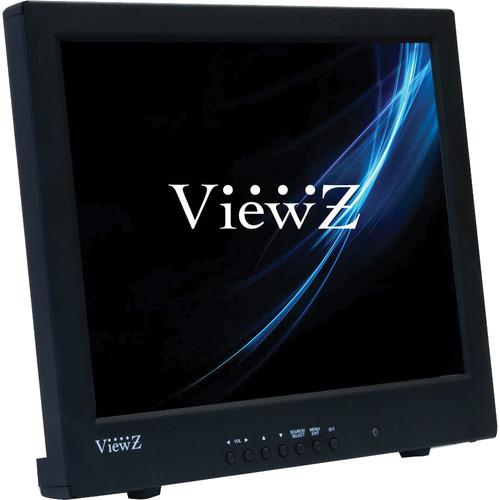 "ViewZ RTC Series VZ-15RTC 15"" Commercial-Grade TFT-LCD CCTV Monitor (Black)"