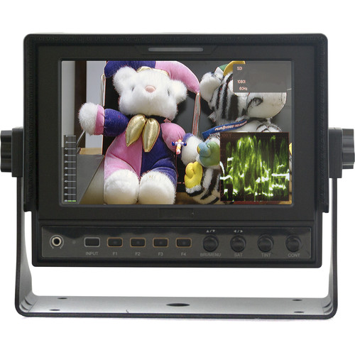 "ViewZ 7""  Broadcast Monitor, IPS 1280X800 Pixels, 3G-SDI In/Out, HDMI In/Out"