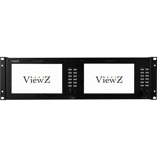 "ViewZ VZ-070RM-3G 3RU Dual 7.0"" 3G-SDI Rackmount Monitor"
