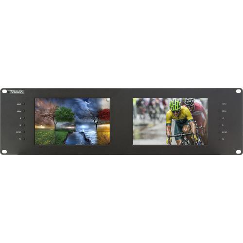 "ViewZ VZ-070RM-E Dual 7"" 3G-SDI Rackmount Monitor (3 RU)"
