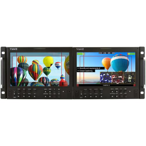 "ViewZ 9"" 3G-SDI Video Production Rackmount Monitor (4 RU)"